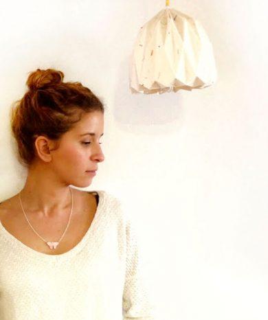 collar mariposa de plata