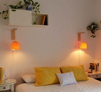 Lámpara de pared con apliques BALANCE amarillo