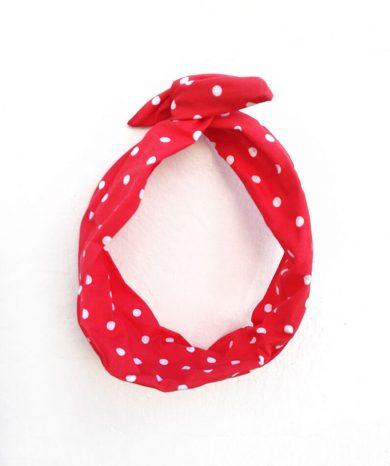 Turbantes topos rojos