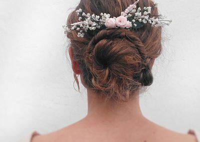 tocado boda flores